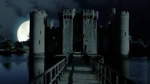 scary moon background scary full moon over evil demon vampire castle horror spooky