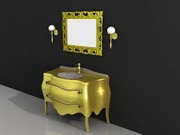 gold bathroom vanity and mirror set 3d model 3d studio 3ds max