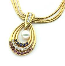 vintage necklace chains images Vintage mikimoto necklace wiith changeable pendant and three jpg
