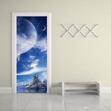 the star scenery door stickers 3d pvc self adhesive wallpaper
