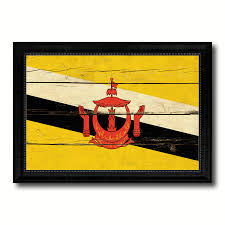 brunei country vintage flag home decor gift ideas wall art