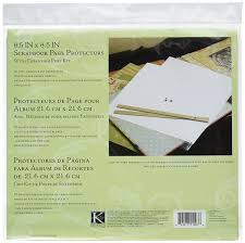 Scrapbook Page Protectors Amazon Com K U0026company Refill Page Kit For 8 1 2 By 8 1 2 Inch