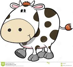 cute cow vector stock vector image of happy illustration 4033859