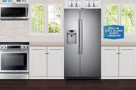 Samsung Cabinet Depth Refrigerator Samsung Rs22hdhpnsr 36 Inch Counter Depth Side By Side