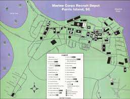 Hunting Island State Park Map by Parris Island Marine Corps Recruit Depot Map Parris Island South