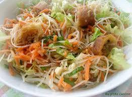 cuisiner le soja frais salade chinoise aux nems ma p tite cantine