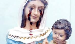 imágenes religiosas que lloran sangre lágrimas de sangre llora una virgen de san nicolás en avellaneda