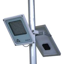 Flag Pole Lights Solar Powered Alpha 600x Street Light 3 Level Brightness Lithium Battery