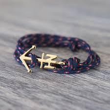 gold cord bracelet images Gold anchor bracelet navy cord nautical horizon jpg
