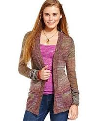 juniors sweater rag juniors sweater sleeve lace pointelle knit
