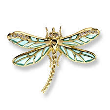morrison jewelers barr designs 18 karat gold small dragonfly