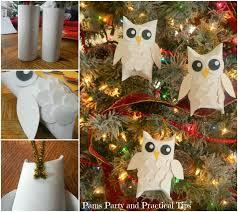 owl ornaments wonderful diy snowy owl ornaments from paper rolls