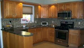 Oak Kitchen Cabinets And Wall Color Honey Oak Kitchen Cabinets Faced
