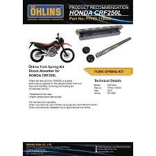 ohlins front fork top cap u0026 spring kit ffho110003