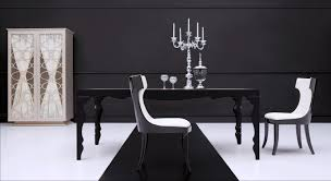 Emejing Black Dining Room Tables Ideas Room Design Ideas - Black and white contemporary dining table