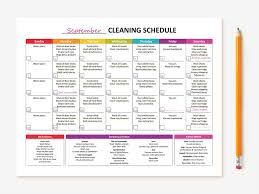 printable house cleaning schedule cleaning schedule cleaning checklist free printables cleaning