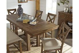 dining room table sets with leaf moriville counter height dining room table ashley furniture homestore