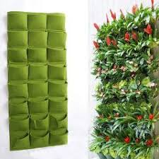 Vertical Garden For Balcony - 24 pockets wall mounted grow bags hanging planter for vertical