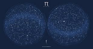 Map Of Constellations 2017 Pi Day Art Posters U2014 Sky Charts And Extinct Animals And
