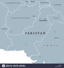 Asia Map With Capitals by Pakistan Political Map With Capital Islamabad And Borders Islamic