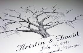tree guest book guest book fingerprint tree handmade wedding emmaline