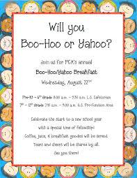 Annual Dinner Invitation Card Wording Boo Hoo Breakfast Boo Hoo Yahoo Breakfast Back To