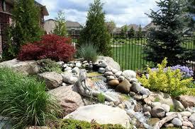 yard bridge water features