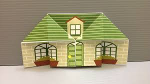 how to make your house green free origami house paper print your own cute houses youtube