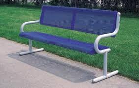 Steel Outdoor Bench 6 U0027 Steel Outdoor Benches Metal Park Benches Belson Outdoors