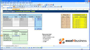 Sales Commission Excel Template Excel Basics 019 Project Commission Spreadsheet Sumif