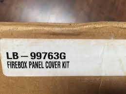 lennox black metal fireplace refractory liner part lb 99763g