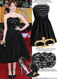 get the look copy emma stone u0027s sag awards look for less fashion