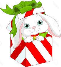 best free cute bunny in christmas gift box stock vector cartoon