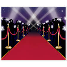 6ft hollywood vip awards night red carpet party wall poster