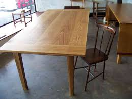 Modern Oak Furniture Dining Room Interesting Oak Dining Table With Grey Ceramic Floor