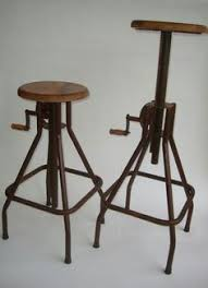 Steampunk Bar Stools Adjustable Wooden Top Bar Stool From Rockett St George French