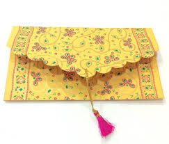set of 5 gift envelopes with tassels money by penandfavor on zibbet