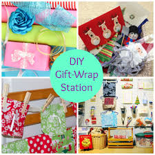 Organize Gift Wrap - diy gift wrapping station