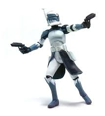 clone commander wolffe phase 1 armor actuib figure review tv