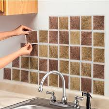 stick on backsplash for kitchen self adhesive backsplash tiles kitchen peel and stick photo self