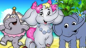 elephant cartoon for kids finger family rhymes elephant finger