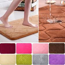 Square Bathroom Rug 40cmx60cm 1pc Absorbent Bathroom Mat Memory Foam Non Slip Kitchen