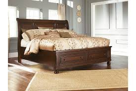 King Sleigh Bedroom Sets by Porter Queen Sleigh Bed Ashley Furniture Homestore