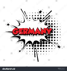 lettering germany country comic text sound stock vector 523855420