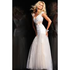 prom lace white dress fashion show collection gossip style