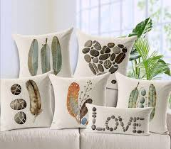 feather stone love cushion covers decorative disigner throw