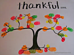 thankful thumbprint tree craft