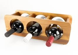 acacia wood 3 bottle wine rack wood decor