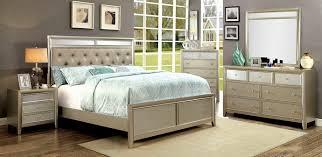 Silver Queen Bed 5 Pc Briella Silver Finish