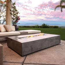 Fire Pit Coffee Table Brown Jordan Fires Flo Fire Pit Coffee Table Natural Gray